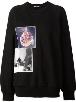 Толстовка С Принтом Vera Wang                                                                                                              черный цвет