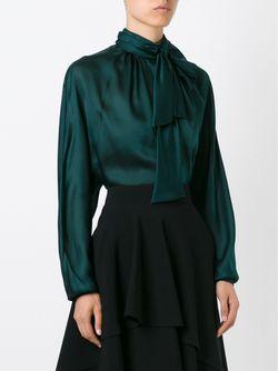 Блузка С Бантом Balmain                                                                                                              зелёный цвет
