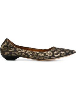Балетки С Леопардовым Принтом Lanvin                                                                                                              чёрный цвет