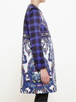 Пальто С Принтом Пейсли Mary Katrantzou                                                                                                              синий цвет