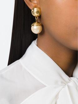 Серьги-Подвески С Искусственным Жемчугом Givenchy                                                                                                              серебристый цвет