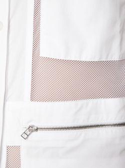 Рубашка С Сетчатыми Панелями HOOD BY AIR                                                                                                              белый цвет