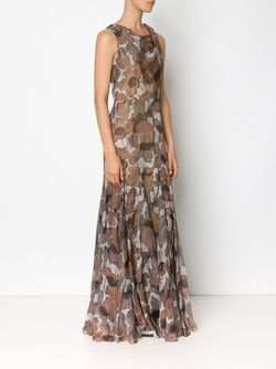 Poppy Print Gauze Dress Vera Wang                                                                                                              серый цвет