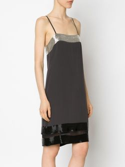 Beaded Camisole Dress Vera Wang                                                                                                              черный цвет