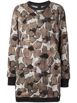 Poppy Print Sweatshirt Dress Vera Wang                                                                                                              чёрный цвет