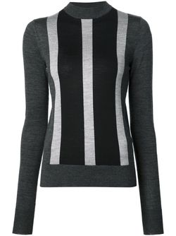 Striped High Neck Sweater Vera Wang                                                                                                              серый цвет