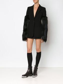 Panelled Fur Sleeve Blazer Vera Wang                                                                                                              черный цвет
