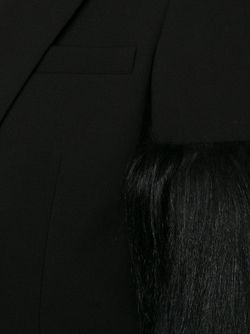 Panelled Fur Sleeve Blazer Vera Wang                                                                                                              чёрный цвет