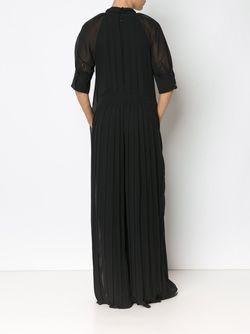 Pleated Sheer Jumpsuit Vera Wang                                                                                                              чёрный цвет