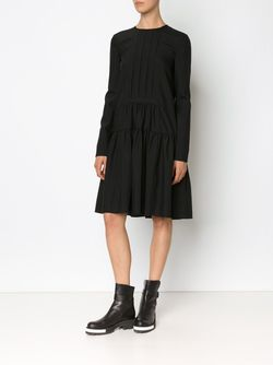 Dropped Waist Longsleeved Dress Vera Wang                                                                                                              чёрный цвет