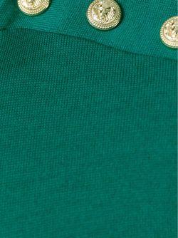 Футболка С Длинными Рукавами Balmain                                                                                                              зелёный цвет