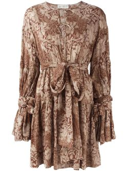 Платье С Оборками И Принтом Faith Connexion                                                                                                              коричневый цвет