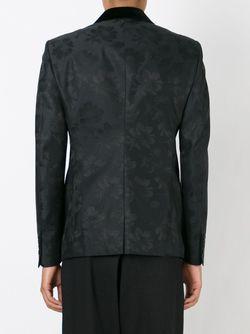 Пиджак С Жаккардовым Узором В Цветки Гибискуса Alexander McQueen                                                                                                              черный цвет
