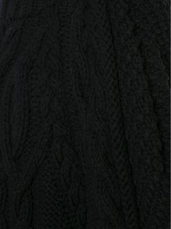 Объемный Свитер Вязки Косичка Vera Wang                                                                                                              чёрный цвет