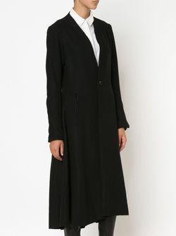 Удлиненное Расклешенное Пальто A TENTATIVE ATELIER                                                                                                              черный цвет