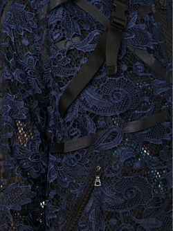Кружевная Куртка-Бомбер James Long                                                                                                              синий цвет