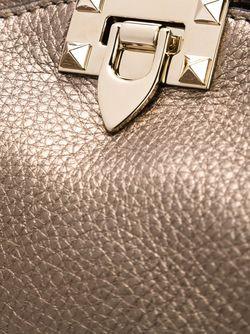 Сумка На Плечо Rockstud С Отделкой Металлик Valentino Garavani                                                                                                              коричневый цвет
