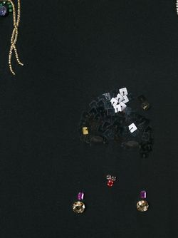 Декорированная Футболка Lanvin                                                                                                              черный цвет
