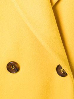 Двубортное Пальто Alberto Biani                                                                                                              желтый цвет