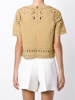 Блузка С Перфорированным Узором Sea                                                                                                              коричневый цвет