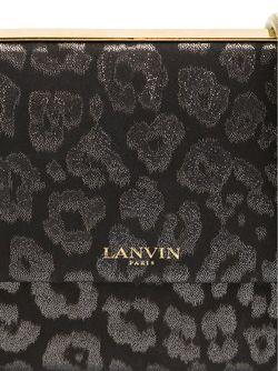 Леопардовая Сумка На Плечо Lanvin                                                                                                              чёрный цвет
