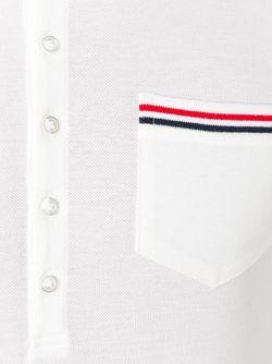 Футболка-Поло С Нагрудным Карманом Thom Browne                                                                                                              белый цвет