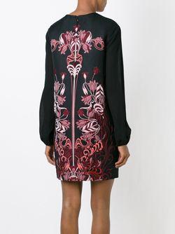 Платье С Цветочной Вышивкой GIAMBA                                                                                                              черный цвет