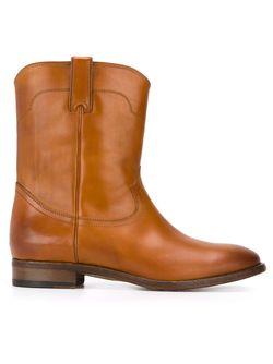 Ботинки В Стиле Вестерн Ralph Lauren                                                                                                              коричневый цвет