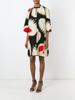 Платье Шифт С Геометрическим Узором Antonio Marras                                                                                                              Nude & Neutrals цвет