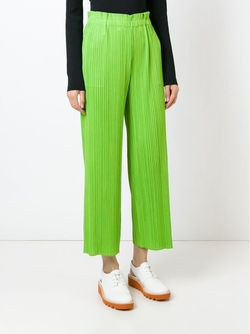 Брюки С Гофрированным Дизайном PLEATS PLEASE BY ISSEY MIYAKE                                                                                                              зелёный цвет
