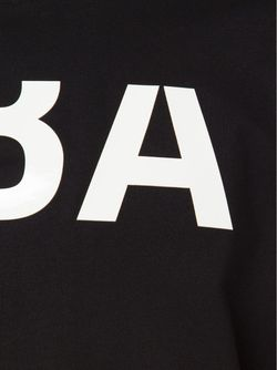 Футболка С Принтом Логотипа HOOD BY AIR                                                                                                              черный цвет