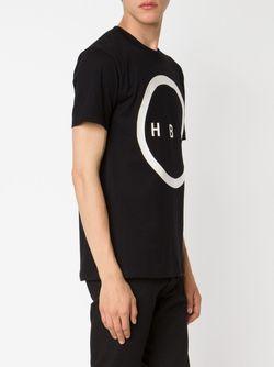 Футболка С Принтом Логотипа HOOD BY AIR                                                                                                              чёрный цвет