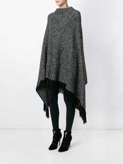 Marled Knit Poncho Dolce & Gabbana                                                                                                              чёрный цвет