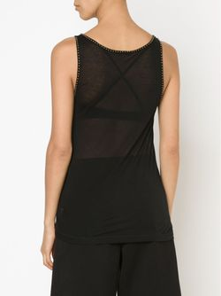 Studded Trim Tank Top Tomas Maier                                                                                                              черный цвет