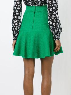 Твидовая Юбка Мини С Воланом Dolce & Gabbana                                                                                                              зелёный цвет