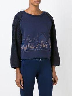 Укороченный Свитер С Вышивкой Adidas By Stella  Mccartney                                                                                                              синий цвет