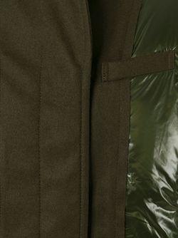 Дутая Куртка С Панельным Дизайном Sacai Luck                                                                                                              зелёный цвет