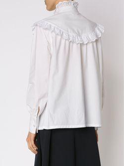Блузка С Ажурными Оборками Co                                                                                                              белый цвет