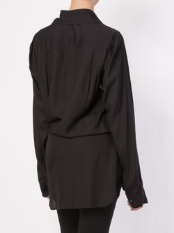 Драпированная Рубашка С Поясом Ann Demeulemeester                                                                                                              черный цвет