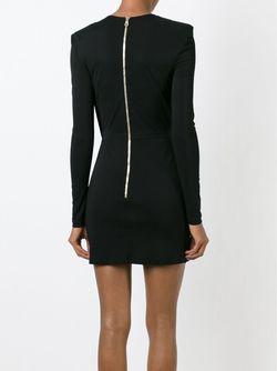 Драпированное Платье Balmain                                                                                                              чёрный цвет