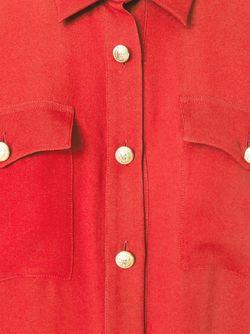 Прозрачная Рубашка Balmain                                                                                                              красный цвет