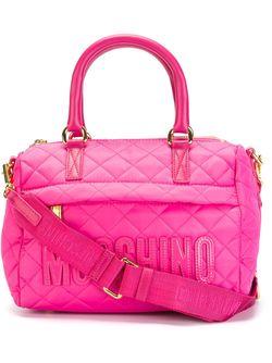 Стеганая Сумка С Логотипом Moschino                                                                                                              розовый цвет