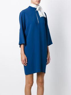 Свободное Платье Gianluca Capannolo                                                                                                              синий цвет