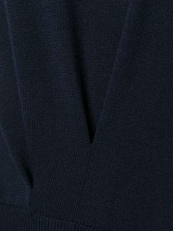 Двухцветный Свитер Jil Sander                                                                                                              синий цвет