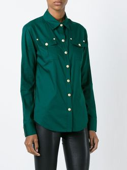 Рубашка С Нагрудными Карманами Balmain                                                                                                              зелёный цвет