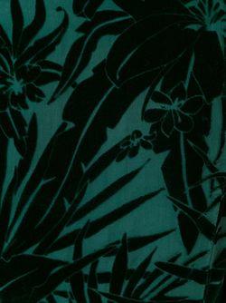 Бархатное Платье С Цветочным Узором Balmain                                                                                                              зелёный цвет