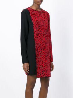 Платье Шифт С Принтом Fausto Puglisi                                                                                                              красный цвет