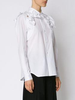 Рубашка С Отделкой В Виде Бантов Comme Des Garcons                                                                                                              белый цвет