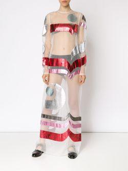 Длинное Прозрачное Платье С Аппликацией SADIE WILLIAMS                                                                                                              многоцветный цвет