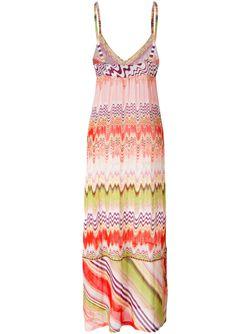 Вязаное Платье С Принтом Missoni                                                                                                              розовый цвет